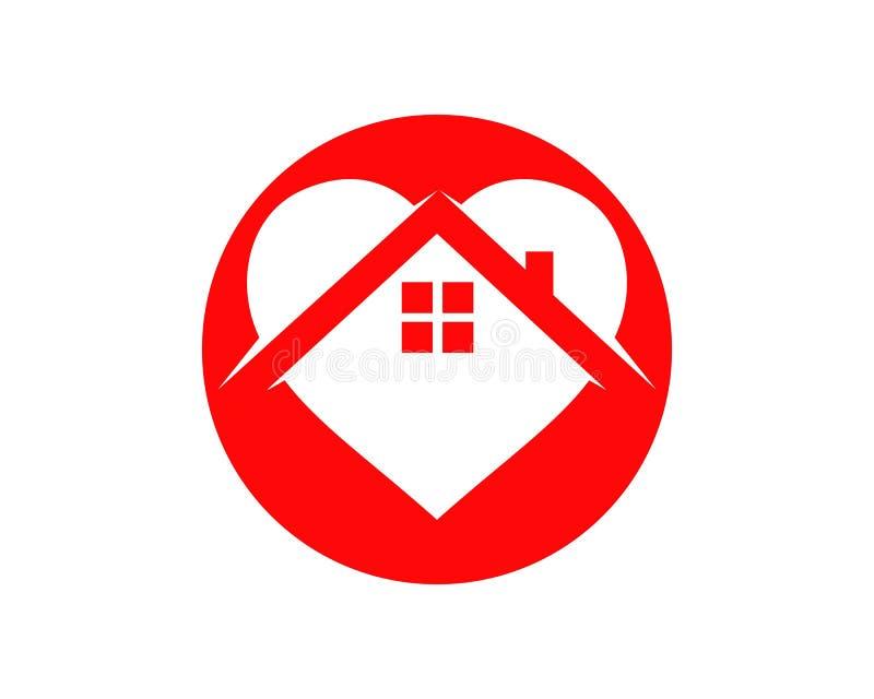 家和爱商标模板传染媒介 向量例证