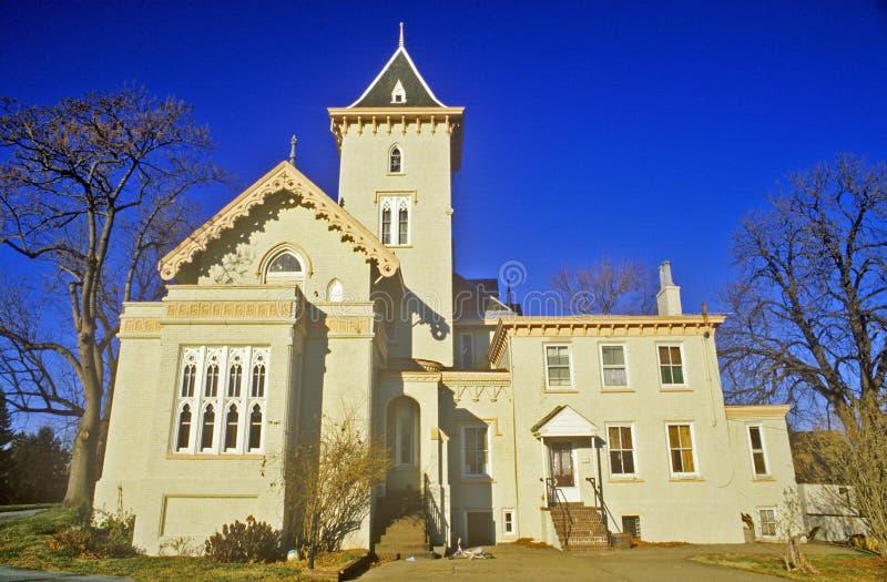 家在历史的新堡, DE 免版税图库摄影