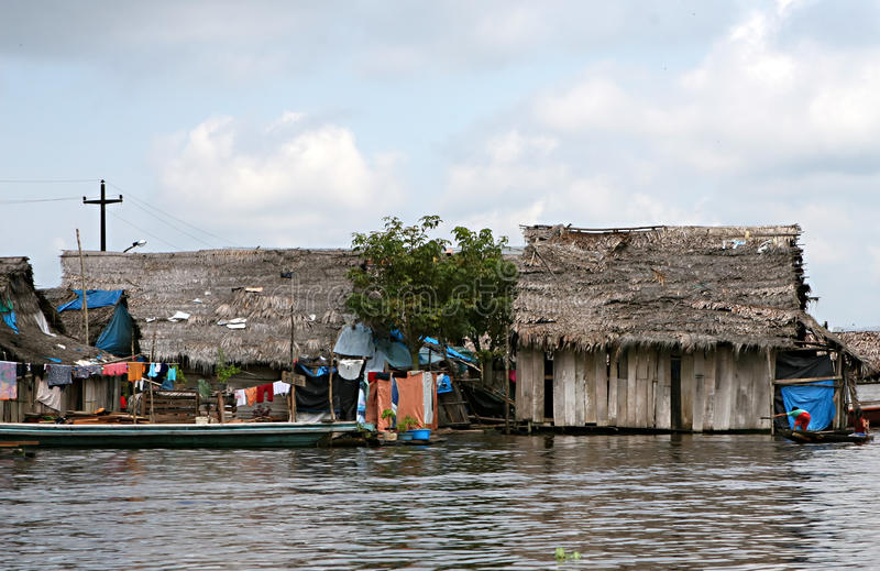 家在Belen -秘鲁 免版税库存照片