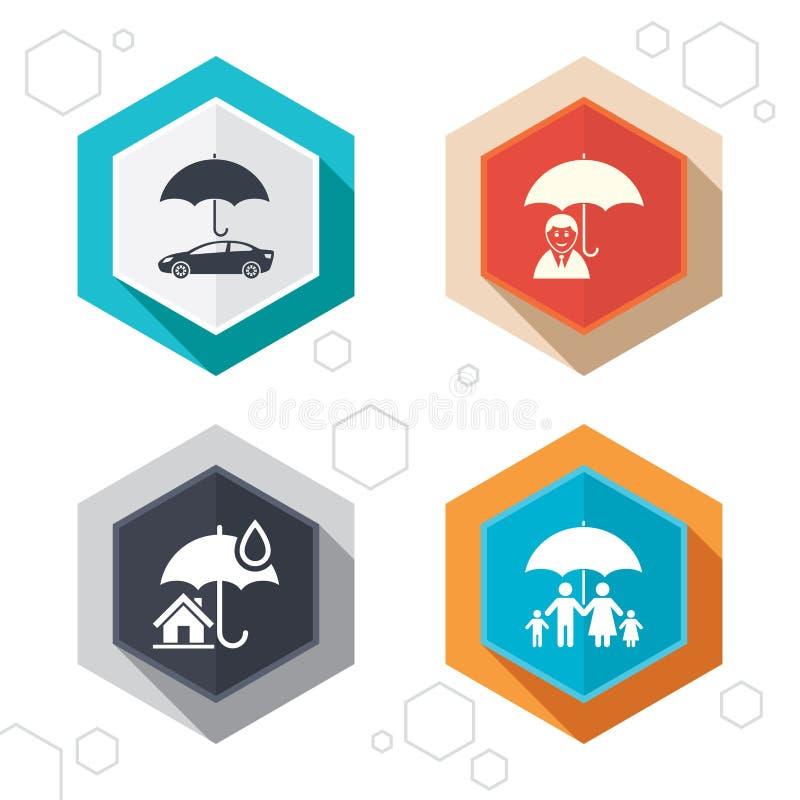 家庭、房地产或者家庭保险象 库存例证