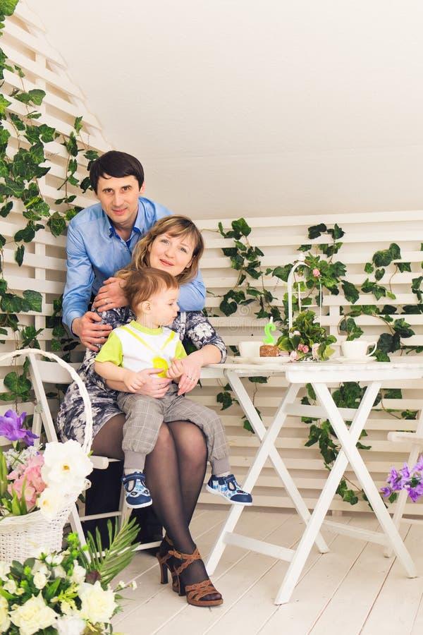 家庭事件生日聚会统一性幸福 免版税库存图片