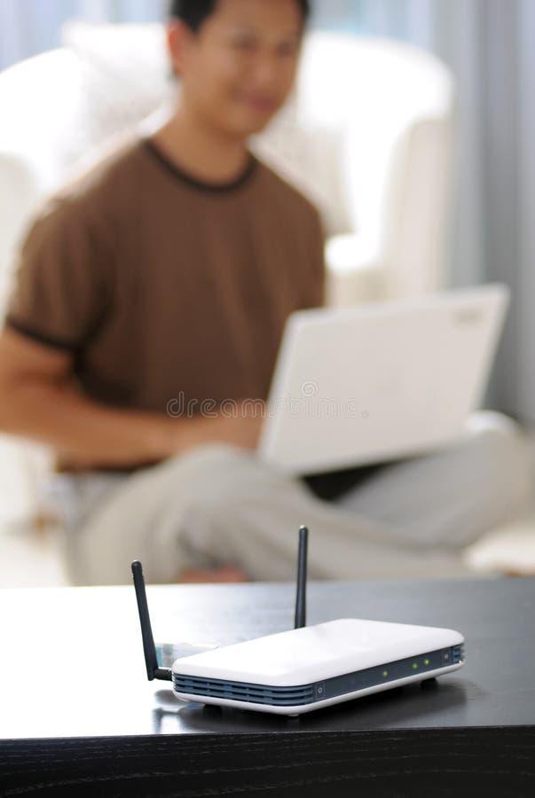 家庭互联网无线 免版税库存照片