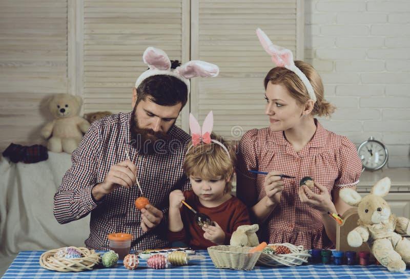 家庭价值观,童年,艺术,复活节 免版税库存图片