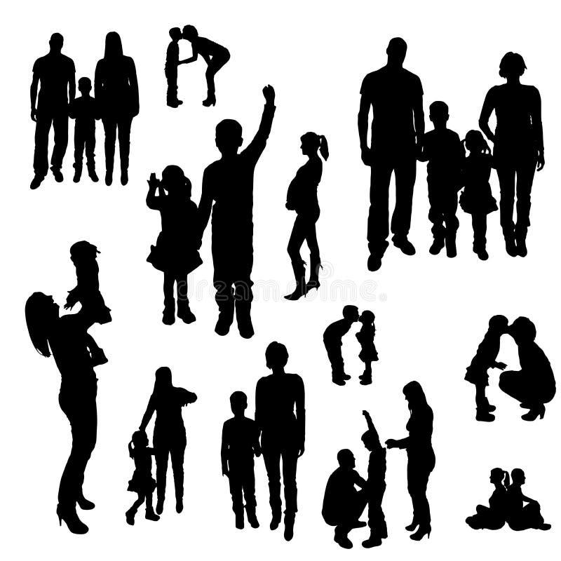 家庭传染媒介剪影  向量例证