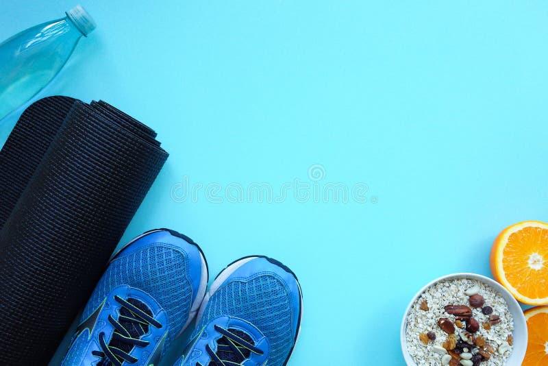 家庭体育锻炼的设备 健身背景 体育的概念 免版税图库摄影