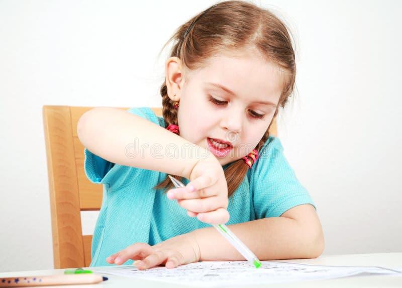 家庭作业做 免版税库存照片