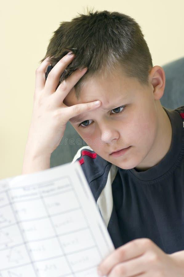 家庭作业数学 免版税库存图片