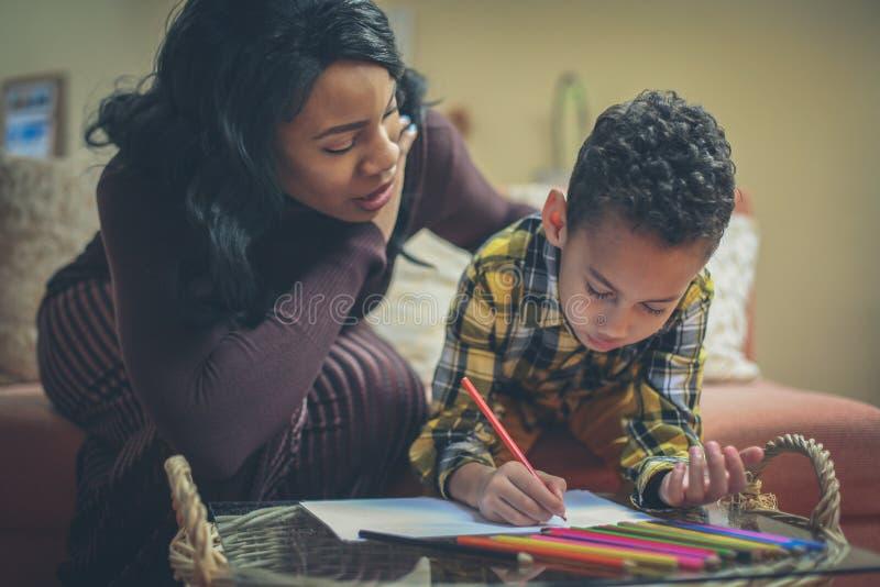 家庭作业,家庭作业,家庭作业 库存照片