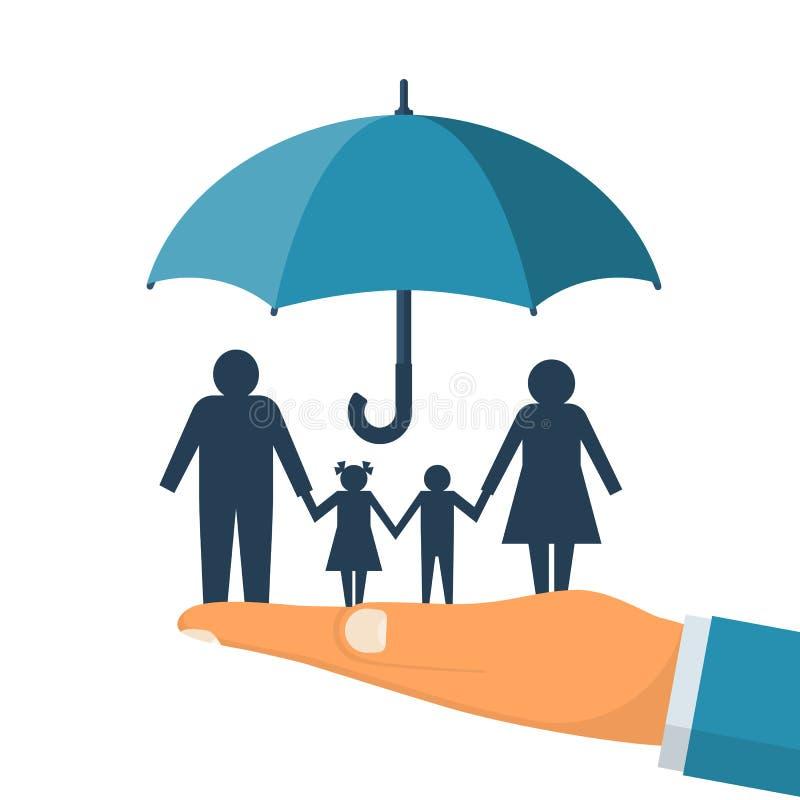 家庭保护 所有概念保险类型 库存例证