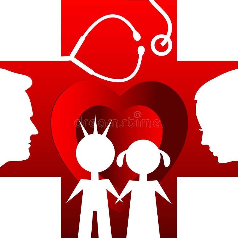 家庭健康中心 向量例证
