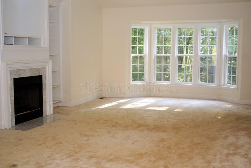 家庭内部客厅 免版税库存照片