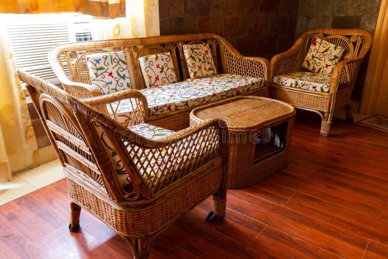家庭内部,沙发家具 免版税库存图片