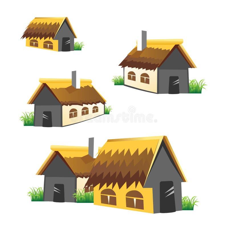 家庭农场动画片传染媒介集合 库存例证