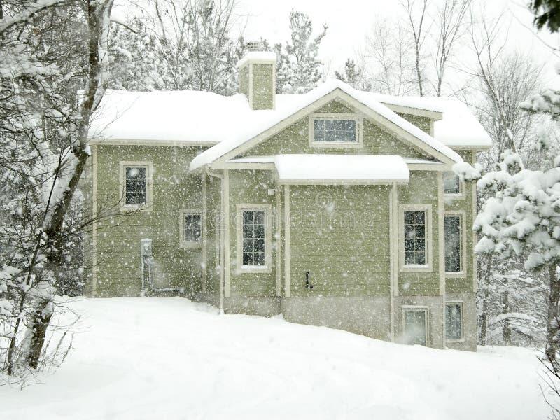 家庭冬天 图库摄影