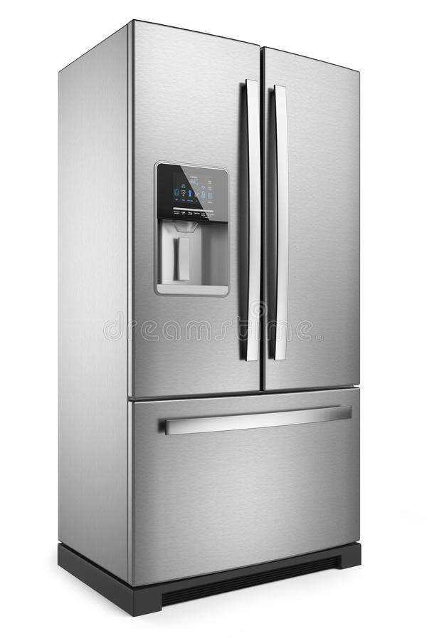 家庭冰箱 皇族释放例证