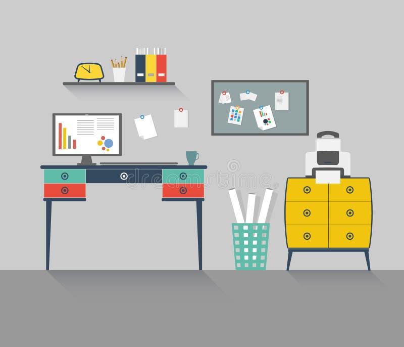家庭办公室6 向量例证