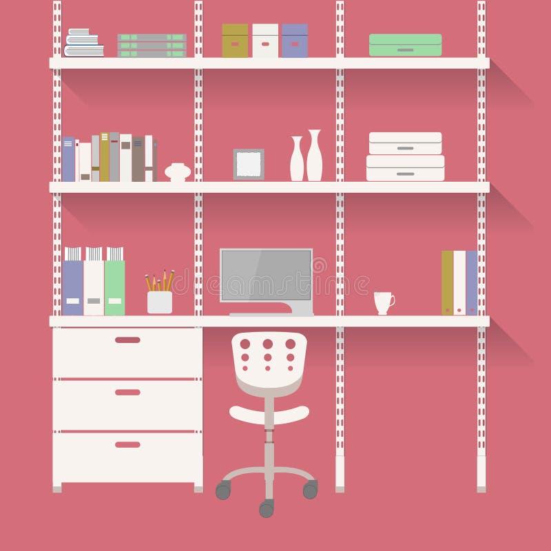 家庭办公室3 向量例证