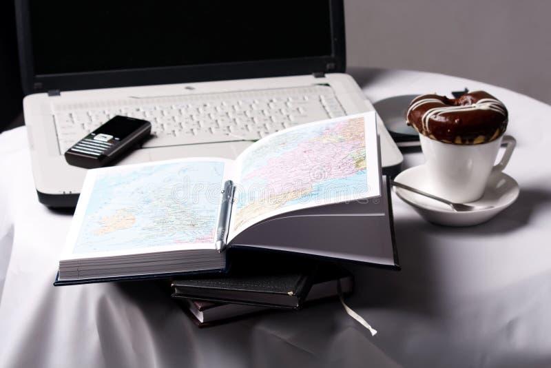 家庭办公设置 免版税库存图片