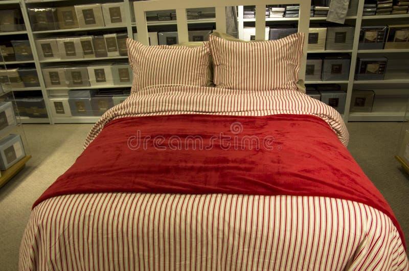 家庭卧室装饰家具店 免版税图库摄影