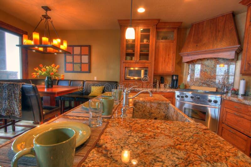 家庭厨房 免版税库存照片