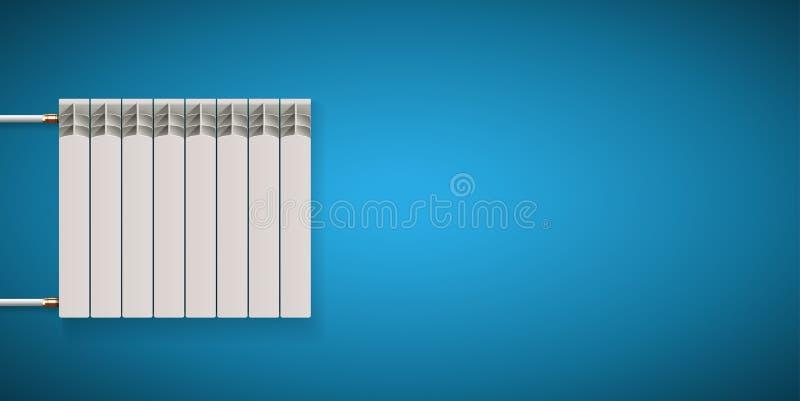 家庭取暖系统概念-房子设施 库存例证