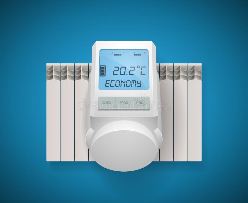 家庭取暖系统概念-房子设施 皇族释放例证