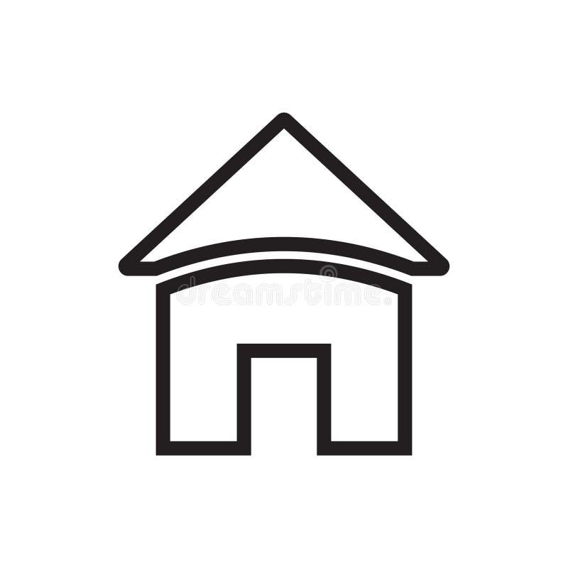 家庭图标 适应图标 库存例证