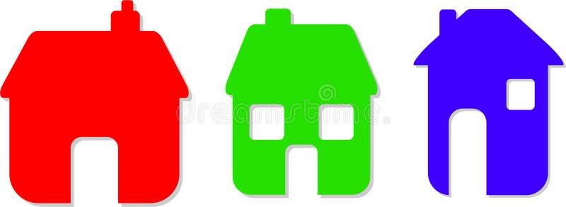 家庭图标 库存例证