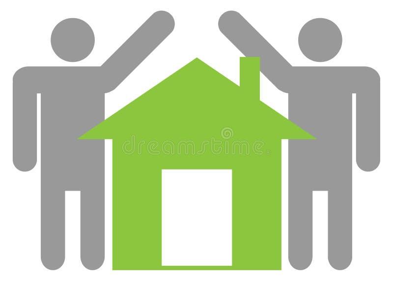 家庭图标 向量例证