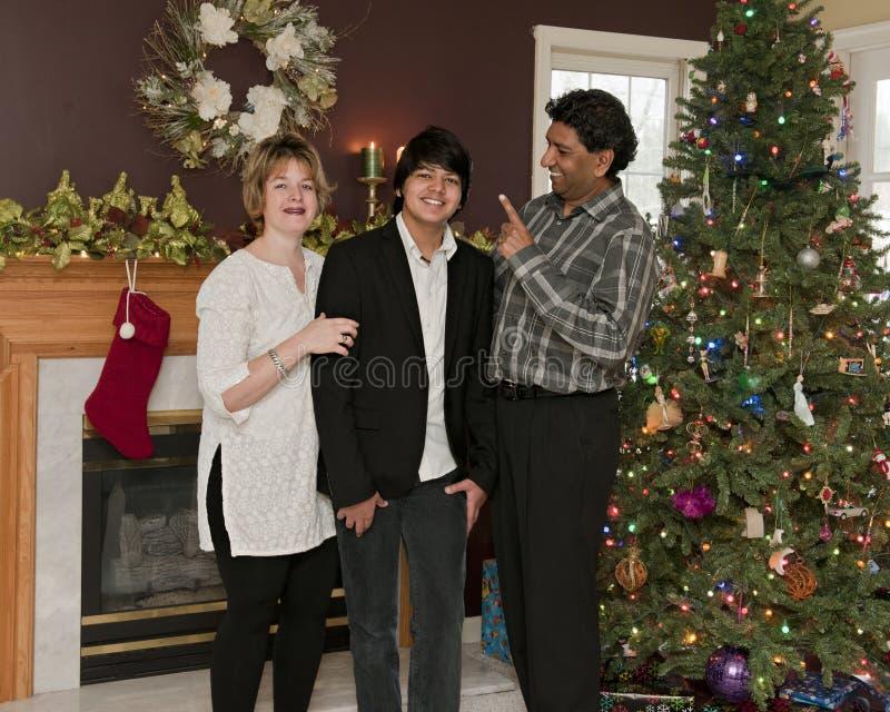 家庭圣诞节戏弄 免版税图库摄影