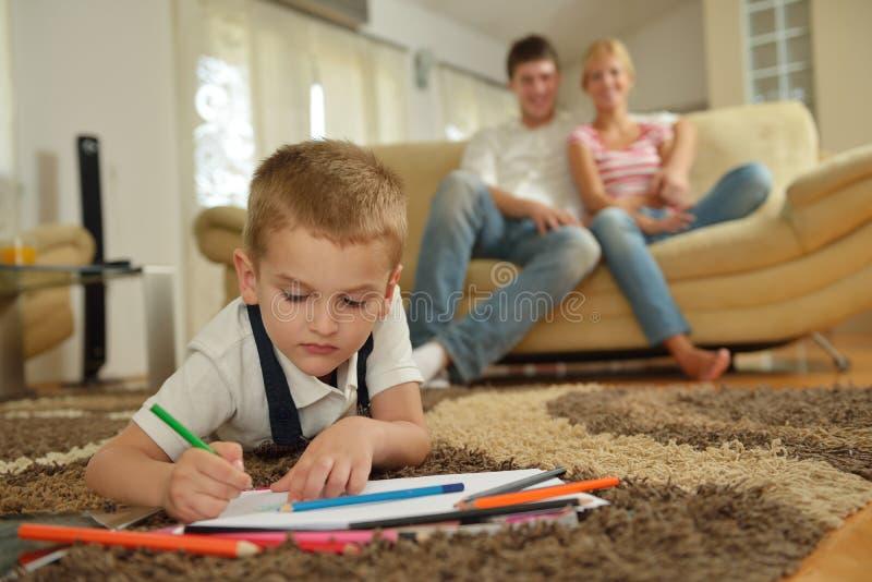 家庭在家 免版税库存照片
