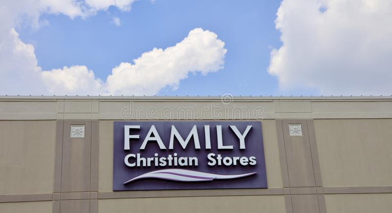 家庭基督徒商店 库存图片