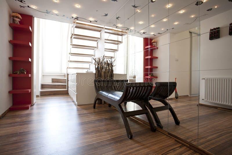 家庭大厅内部装饰业 免版税库存图片
