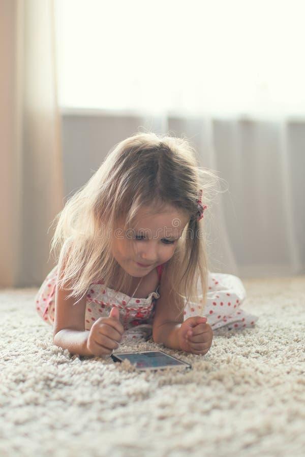 家庭女孩一点 免版税库存图片