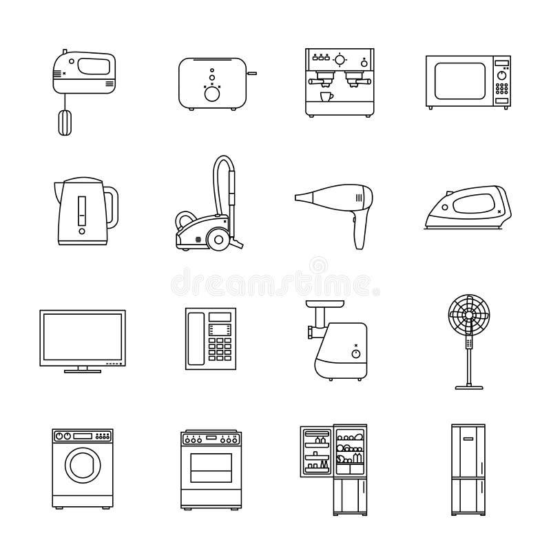 家庭家用电器 向量例证