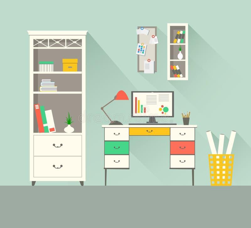 家庭工作区1 向量例证