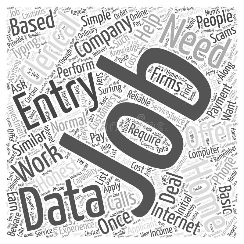 从家庭工作词云彩概念词云彩概念传染媒介背景的职员资料输入 库存例证