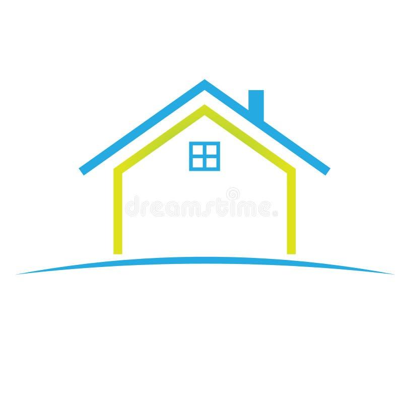 家庭徽标符号 库存例证