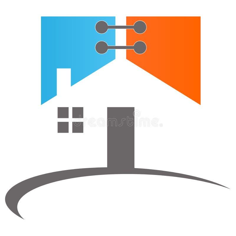 家庭徽标 向量例证