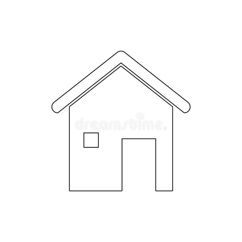 家庭房子概述象 E 库存例证