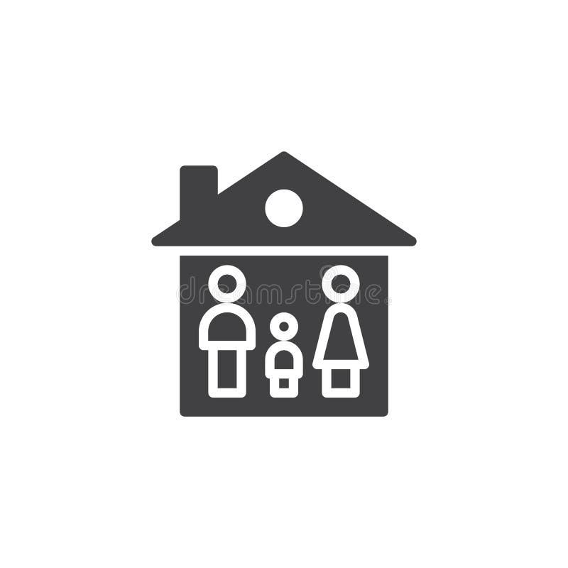 家庭房子象传染媒介 库存例证