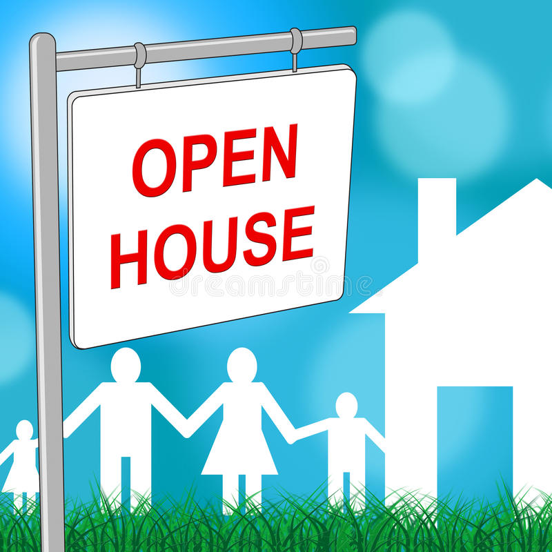 家庭招待会表明房地产和大厦 皇族释放例证