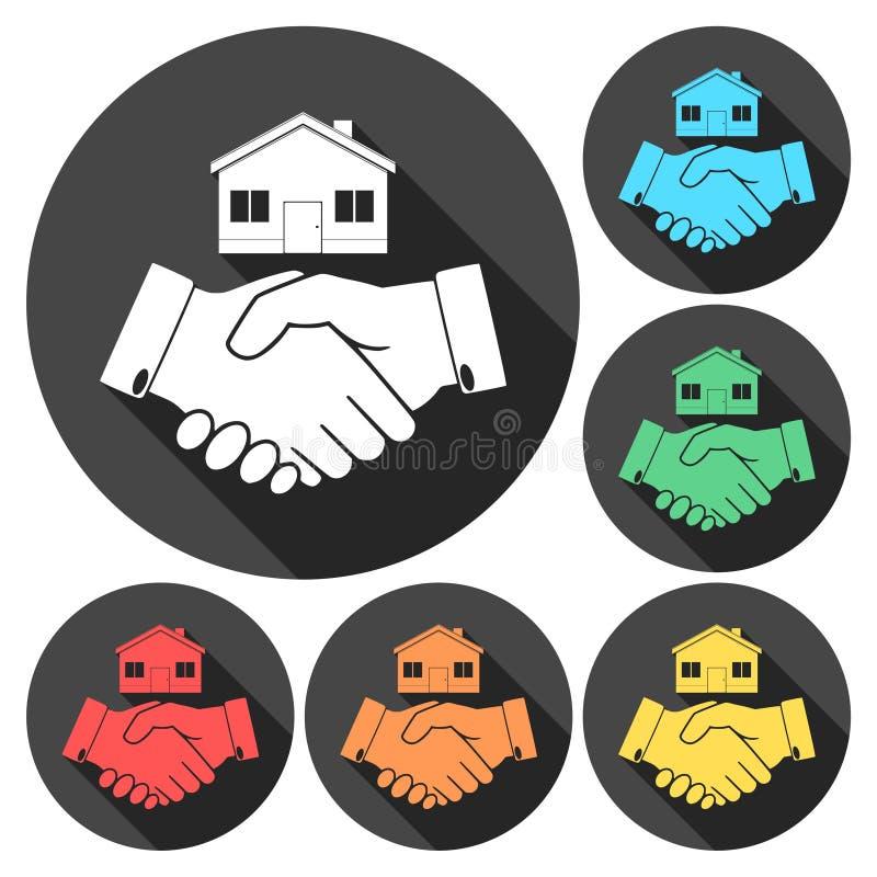 家庭握手标志象 库存例证