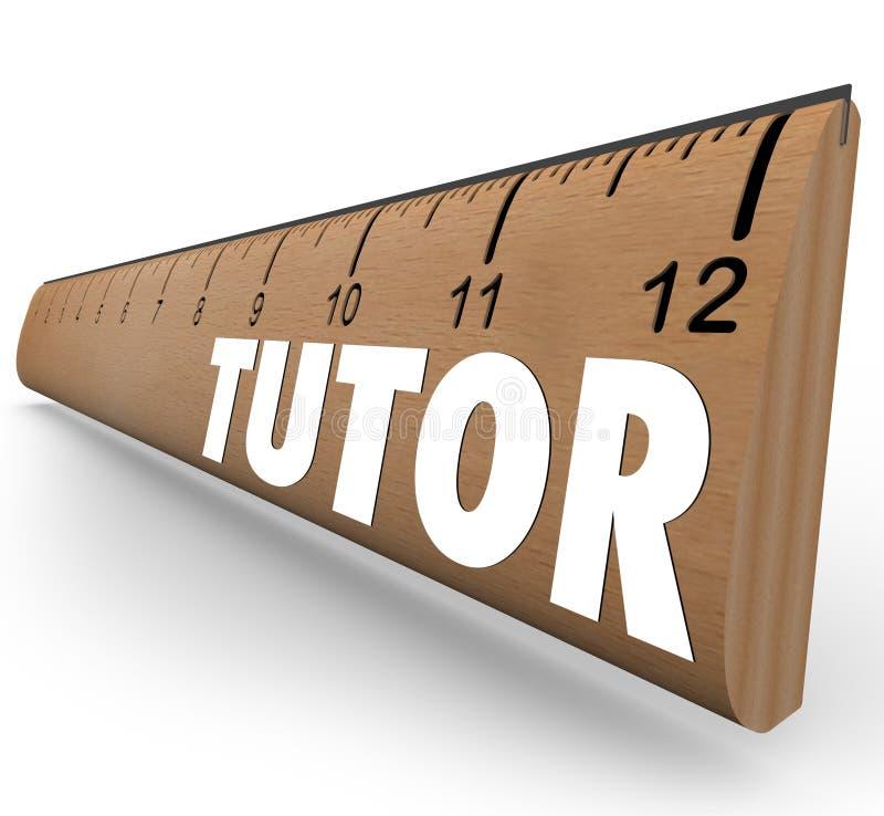 家庭教师学会教的算术科学技能的统治者测量 库存例证