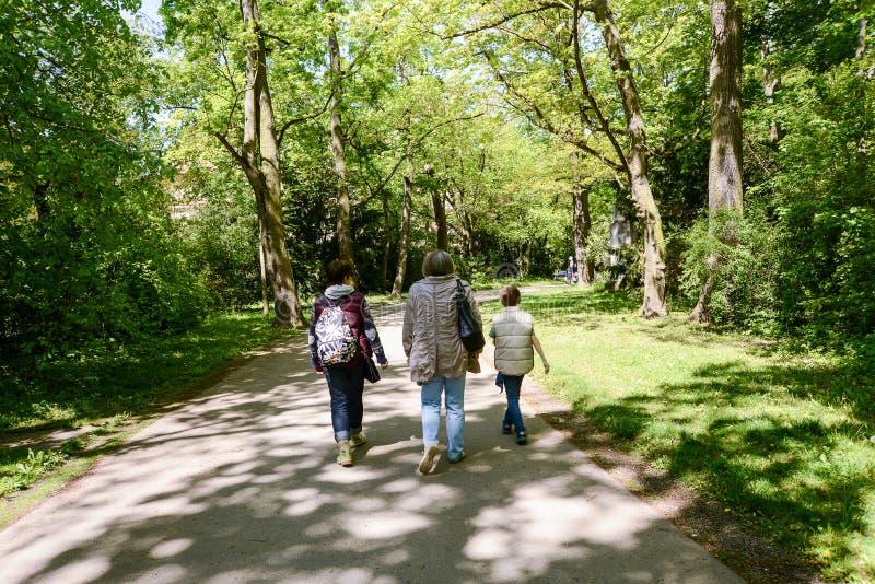 家庭散步 免版税库存照片