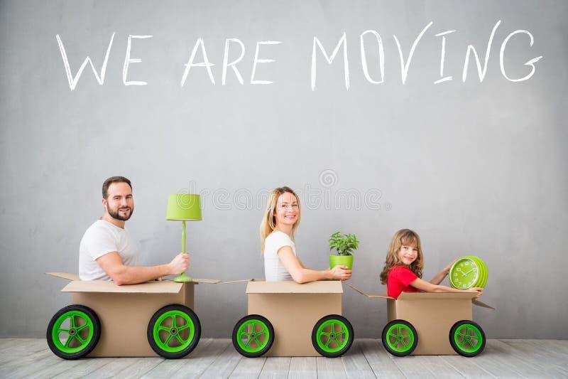家庭新的家庭移动的天议院概念 图库摄影