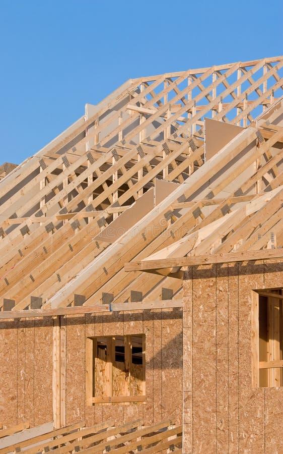 家庭新的屋顶结构 库存图片