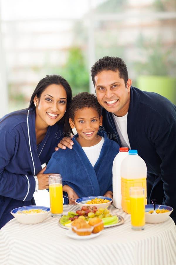 家庭早餐桌 免版税库存照片