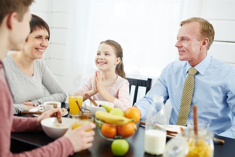 家庭早餐 免版税图库摄影