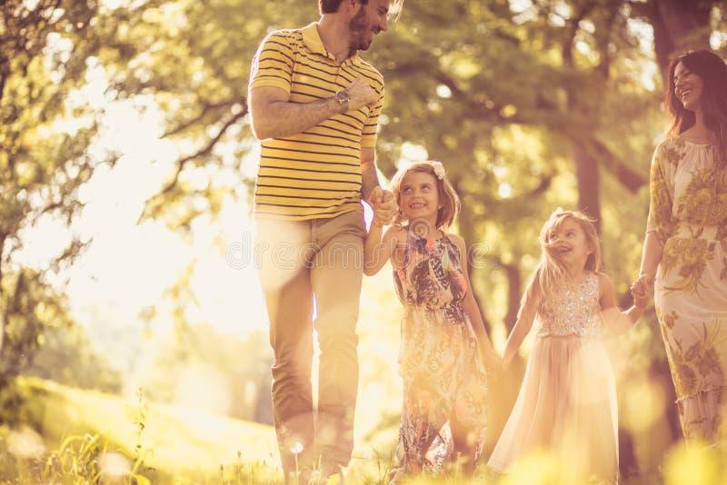 家庭时间 防御cesky遗产krumlov季节春天查看世界 免版税图库摄影